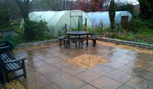 Patio laid by the Grounds & Gardens team